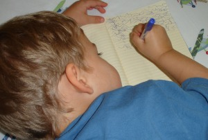 Wesley writing down his soul